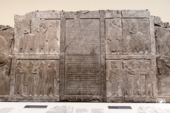 Old Persian cuneiform inscription (andrea.prave) Tags: uk england london museum persian museu muse londres museo britishmuseum londra cuneiform mesopotamia inscription babilonia basrelief inghilterra  mze    bassorilievo periani bajorrelieve    babilon