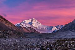 Everest under pink clouds (Kelvinn Poon) Tags: tibet everest  qomolangma everestbasecamp