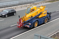 Ainscough Crane 8th March 2016 (2) (asdofdsa) Tags: motorway transport vehicle trucks m62 haulage hgv mobilecrane ainscough 8thmarch2016