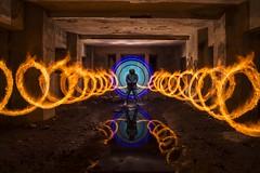Devil sanatorium (lightbrothersfotografia) Tags: lightpainting firejuggling firepainting cesuras sanatoriodecesuras