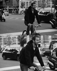 [La Mia Citt][Pedala] (Urca) Tags: portrait blackandwhite bw bike bicycle milano bn ciclista biancoenero mir 2015 itallia pedalare 8061 biciclett nikondigitale ritrattostradale
