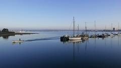 life on the water 81/366 (dawn.v) Tags: uk sea england water boats coast march earlymorning dorset poole boatman 2016 twinsailsbridge lumixlx100 2016yip 366daysin2016
