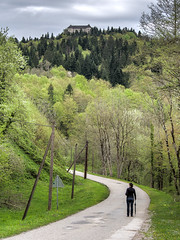 Kostel (Miha Pavlin) Tags: road green forest river spring outdoor slovenia rainy slovenija grad kostel valey kolpa
