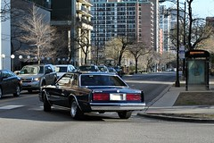 Not A Mirada (Flint Foto Factory) Tags: city urban chicago motion beautiful evening moving illinois spring afternoon view traffic personal rear north corporation cordoba 1981 april dodge intersection chrysler friday pm mirada sheridan luxury coupe ls edgewater taillights inmotion 2016 glenlake threequarter chryslercorporation worldcars nsheridanrd