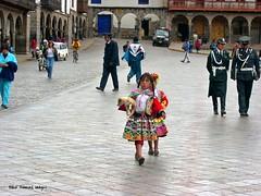 Girls in Traditional Dress and Police in Plaza De Armas, San Sebastian District, Cusco, Cusco Province, Peru (Black Diamond Images) Tags: peru southamerica cusco perú plazadearmas américadosul amériquedusud zuidamerika sudamérica republicofperu repúblicadelperú cuscoprovince sansebastiandistrict