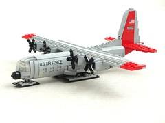 LC-130H Hercules 'Ski Bird' (Mad physicist) Tags: lego aircraft lockheed hercules c130 1100 lc130