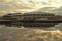 Queen's Campus Durham University (Paolo Serafino) Tags: buildings reflections river waterfront teesside tees stocktonontees