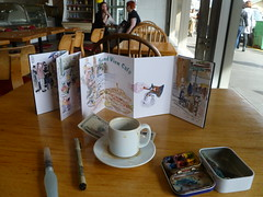 51st WW Sketch Crawl DAy Turkish Coffe (MicheleC2) Tags: seattle flower coffee cafe market salmon pikeplacemarket usk turkish soundviewcafe urbansketchers seattleurbansketchers uskseattle wwsketchcrawl51