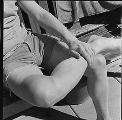Fixing the Hasselblad (Patrick Copley) Tags: selfportrait me flesh mediumformat legs skin 120film hasselblad hasselblad500cm trixpan malelegs