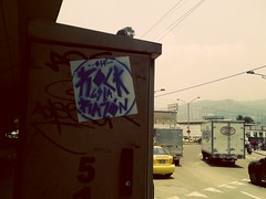 #Rockeslarazon #stickerbomb (NERVIOS / OH GOSH) Tags: stickerbomb rockeslarazon