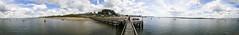 hamworthy pier 360 pan (Mark Rigler UK) Tags: sea england sky fish pier boat fishing fishermen hobby dorset hamworthy