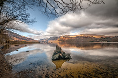 Loch Lomond delight (cheese and pickle) Tags: blue trees winter orange lake mountains tree green water grass clouds reflections walking outdoors scotland outdoor lakes remote lochlomond scottishhighlands waterreservoir