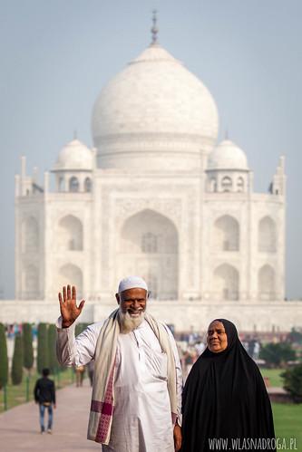 Odwiedzający Tadź Mahal