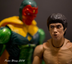 Peripheral Vision (PeterW64) Tags: actionfigures marvel brucelee thevision