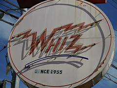 Whiz Burgers (kenjet) Tags: sf sanfrancisco city red 1955 sign vintage neon cola coke burgers neonsign cocacola whiz whizburgers