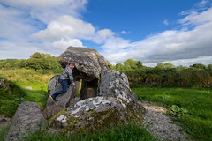Climbing Tirnoney Portal Tomb (backpackphotography) Tags: ireland ancient tomb londonderry northernireland archer prehistoric hdr derry dolmen portaltomb tirnony backpackphotography tirnoney