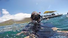 Hello I Am Alien (minimi007) Tags: sea summer man water sunshine outdoors hawaii boat us day diving bluesky maui scubadiving blueskies lanai watersport gopro goprohero kesa snorkeln gopro4 gopro4black
