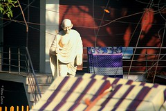 (@my_inner_horses) Tags: street sculpture india agra gandi
