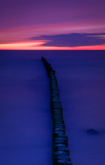 (cappuccino289) Tags: longexposure sunset sea dawn balticsea ostsee groynes buhnen