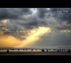 Nature's Play -  Karachi (Aliraza Khatri) Tags: pakistan light sunset nature play magic beam karachi sindh hdr khatri darama aliraza alirazakhatri