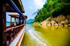 Up the Mekong (Arbron) Tags: river la laos luangprabang mekongriver louangphabang asia2015