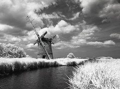 Brograve Sun (danny.rowton) Tags: 120 film windmill rollei ir norfolk 400 danny 6x7 derelict 67 broads rowton pentax6x7 infraredfilm