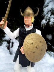 Erik the Brave Viking (atjoe1972) Tags: snow classic forest vintage toys actionfigure battle retro knights sword axe marx brave erik 1960s 1970s viking seventies sixties gregor norsemen 12inch norse johnnywest magicdonkey 16scale atjoe1972
