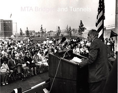 Moses At The Podium (mtabt_specialarchive) Tags: playground brooklyn forthamilton verrazano robertmoses verrazanonarrows tbta marymoses