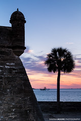 Sunrise over Matanzas Inlet and Castillo de San Marcos, St. Augustine, Florida (DawnaMoorePhotography) Tags: travel sunset sky usa reflection history sunrise photography coast us photo nationalpark lowlight colorful unitedstates image florida nps fort picture historic belltower southern coastal photograph palmtree destination thesouth southeast bastion staugustine castillodesanmarcos southeastern masonary sunshinestate saintaugustine coquina architectureandbuildings matanzasbay castillodesanmarcosnationalmonument nationalparksystem floridasfirstcoast unitedstatesnationalparkservice dawnamoorephotography dawnamoorephotographycom
