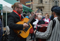 Music in the streets of Penrith (Tony Worrall Foto) Tags: show county street uk england music food man festival fun town stream tour play open place northwest unitedkingdom guitar candid country north visit location event cumbria area annual northern update cumberland attraction strum penrith westmorland penrithonaplate welovethenorth penrithfoodfestival