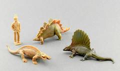 Sphenacodon , Stegosaurus and Dimetrodon (RobinGoodfellow_(m)) Tags: stegosaurus linde dimetrodon sphenacodon