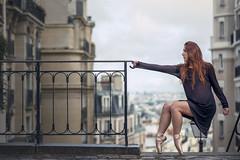 (dimitryroulland) Tags: street city light urban ballet paris france art dance nikon ballerina natural 85mm dancer montmartre 18 performer d600 dimitry roulland