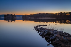 The sound of silence (PixPep) Tags: trees sunset pier sweden bluesky sverige bluehour arvika ingestrand pixpep