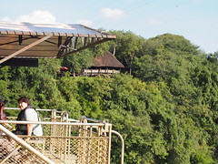 Mirjam preparing to Bungy Jump (little_duckie) Tags: africa zimbabwe bungy bungee zambezi bungyjump zambeziriver 111metres