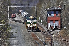 14G at AR (Images by A.J.) Tags: railroad tower heritage train point control pennsylvania ns norfolk southern pa summit cp ge signal sou freight allegheny interlocking prr gevo gallitzin es44ac