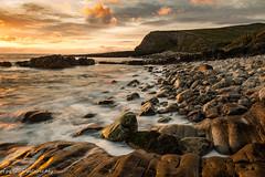 amazing coastal sunset (Aga G. Photography) Tags: sunset sky sun nature clouds outdoors gold coast amazing rocks long waves colours stones sigma 24mm mullaghmore expoure sligoireland canon5dmark3