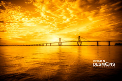 Corrientes City from the Parana River (geralddesmons) Tags: bridge sunset argentina rio river puente golden gerald corrientes belgrano rioparana desmons