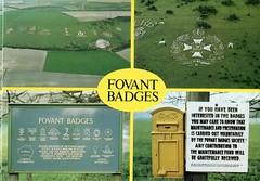 FOVANT BADGES (AndrewHA's) Tags: old chalk postcard postoffice rifles salisbury badges hillside wiltshire comrades commemorative fovant commemerative