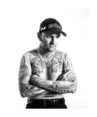 Cedric (Sebastien Gerber) Tags: portrait film blackwhite tattoos 3200iso mamiya7