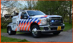 Dutch National Police Ford Super Duty. (NikonDirk) Tags: holland ford netherlands dutch truck team rotterdam foto cops duty transport nederland police super science 350 cop breakdown tow towing f350 berger politie forensic wrecker wagen recherche rijnmond berging takelwagen takel hgl hulpverlening nikondirk bnpg84 53bgn7