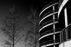 T3 Architecture. (tobyv_photo) Tags: sky blackandwhite mono architectural infrared terminal3 lhr heathrowairport vandeveldephotography 690nms