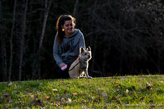 Sosso and Chouquette (Classicpixel (Eric Galton) Photography Portfolio) Tags: dog chien pet ontario canada nature girl grass animal kids hair children relax kid spring nikon friend peace child friendship outdoor walk ottawa relaxing tranquility animaux enfant fille printemps marche tranquilit paix couchdesoleil dehors animaldecompagnie d800e classicpixel ericgalton nikon200500