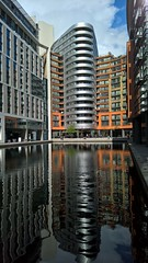 Grand Union Canal terminus, Paddington (baldychops) Tags: city travel sun reflection building london water sunshine station mobile architecture train buildings reflections daylight canal office phone outdoor capital trainstation paddington offices grandunioncanal terminus grandunion lumia lumia950 lumia950xl
