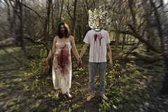 Eternal (lacey.puskaric) Tags: portrait inspiration chicago strange forest woodland weird scary blood woods woodlands couple creepy gore bloody lust trippy inspire gorey lyons woodsy gory creepypasta