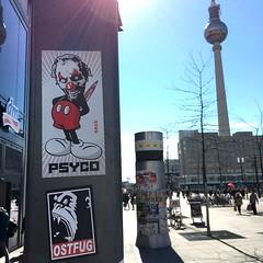 Berlin (PSYCO ZRCS 10/12) Tags: street berlin art alex graffiti sticker stickerart stickers vinyl worldwide vandalism slap tagging psyco bombing combo slaps stickerculture stickerporn stickerlife ostfug