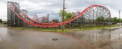 Storm Chaser Panorama (Midgetman82) Tags: kentucky amusementpark louisville rollercoaster rmc stormchaser kentuckykingdom rockymountainconstruction