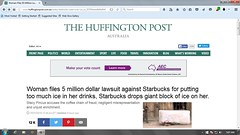5 Million Ways To Die In The West (alexandriabrangwin) Tags: woman ice justice illinois post 5 no case wrong starbucks drinks article stupid sue mad legal huffington frivolous lawsuit alexandriabrangwin millionwaystodieinthewest