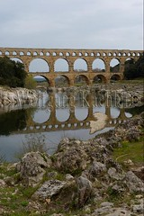 40080154 (wolfgangkaehler) Tags: bridge france water french europe european roman bridges unescoworldheritagesite aqueduct nimes pontdugard aqueducts southernfrance 2016 1stcenturyad gardonriver garddepartment