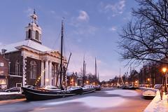 Schiedam, Lange Haven met Havenkerk (Jan Sluijter) Tags: winter snow holland hiver sneeuw schiedam havenkerk visitholland sdam langehaven
