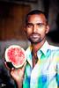 Candid Portrait (briejeshpatel) Tags: portrait india canon bangalore streetphotography karnataka canondslr fruitmarket vegetablemarket canonllens krmarket fruitman canon7d briejeshpatel canon100mmf28lmacro brijeshpatel